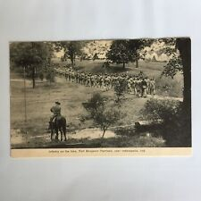 Infantry on  Hill Fort Benjamin Harrison Indianapolis Indiana Unposted Postcard