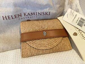 Helen Kaminski  Card Holder 100% Raffia Palm   RARE   Natural /Tan  NEW