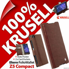Krusell Ekero Folio Wallet Stand Flip Case Cover for Sony Xperia Z5 Compact