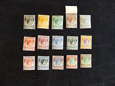 Malaya: Singapore 1948 Perf 14 Definitive set of  15 stamps  mounted mint (MH)