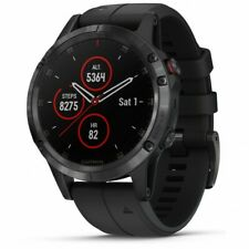 Garmin fenix 5 Plus Sapphire Black with Black Band GPS Watch 010-01988-A6