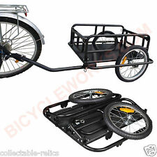 Bicycle Folding Cargo Trailer Pet Shopping Dog Bike Cycle Cart Luggage Foldable