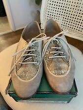 Maud Frizon Snakeskin Shoes Leather Oxford Loafer
