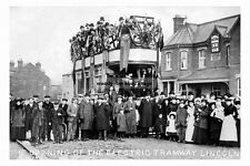 pt2744 - Opening of Electric Tramway , Lincoln , Lincolnshire - photograph 6x4