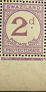 SWAZILAND 1933-57 SG D2 2d. PALE VIOLET POSTAGE DUE  - CV £5.50-  MNH