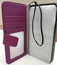 NEW Purple Litchi Leather foto Wallet Case For iphone 6 PLUS 5.5 FREE POST