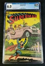 Superman #19 Golden Age DC 1942 CGC 6.0 FN Light Tan to Off-White Pages .10