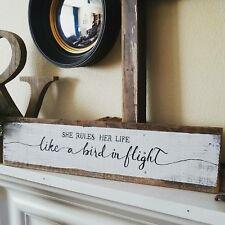 She Rules Her Life Like A Bird In Flight Rhiannon Fleetwood Mac Wood Pallet Sign