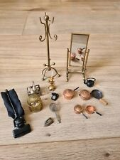 Dolls House Great Bundle Of Vintage Metal Items