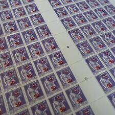 FEUILLE SHEET TIMBRE TYPE PAIX SURCHARGÉ N°478 x100 1940 NEUF ** LUXE MNH