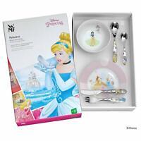 WMF Princesas Disney Vajilla para niños niñas, 6 piezas Plato Cuenco y Cubiertos