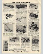 1958 PAPER AD Marx Electric Toy Freighter Train Tonka Gas Gasoline Tanker Truck