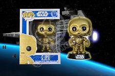 Star Wars C3P0 C-3P0 Funko POP! Figure - CUSTOM REPAINT - GLITTERING GOLD