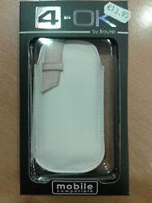 Funda 4-OK STRIP VERTICAL para iPHONE - color BLANCA / BEIGE