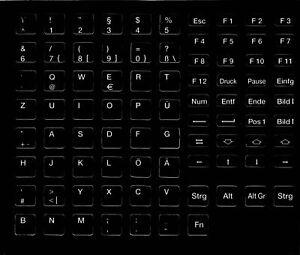 Universal Tastaturaufkleber deutsch passend für alle Keyboards DE