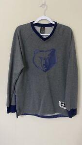 Adidas Memphis Grizzlies NBA Gray Sweatshirt L Mens