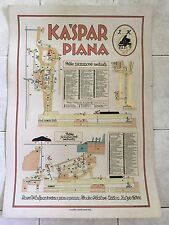 Original vintage pull down school chart of Piano Kaspar litograph