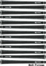Thirteen (13) Karma Full Cord Velour Velvet Standard Black Golf Grip-Mens/Men's