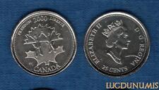 Canada 25 Cents 2000 Liberté Freedom Enfants Feuille D'Erable Children Maple Lea