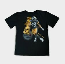 NFL Pittsburgh Steelers Reebok T-Shirt Troy Polamalu Player Youth XL (Adult M)