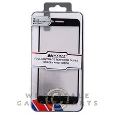 LG K20 V MYBAT Full Coverage Tempered Glass - Black Cover Film Guard Shield