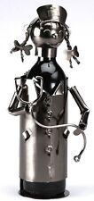 NEW! Nurse Silver Wine Bottle Holder Metal Caduceus Gift Medical RN PRN zb800