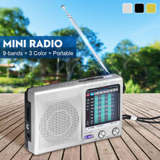 Portable AM SW FM Radio Receiver Sleep Timer Rechargeable Recorder MP3 Player US
