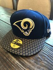 Los Angeles Rams NFL On Field New Era Team Sideline Fitted 7 1/2 OSFA Cap Hat