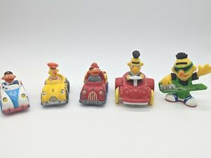 Bert And Ernie Lot Sesame Street Muppets Metal Diecast Cars and Figure 80s