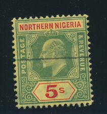 Northern Nigeria Stamp Scott #37, Used, 5Sh Edward VII
