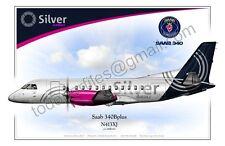 Saab 340Bplus - Silver Airways - Poster Profile