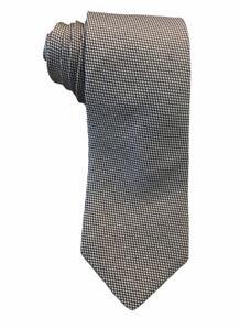 "Eton Men's 100% Silk Dark Gray & Silver Polka Dots Tie Made in England 3.25"" euc"