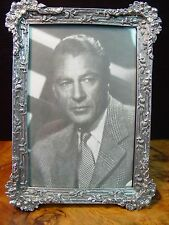 Silver Pewter FLORAL RIBBED 4x6 Picture Frame