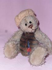 Künstlerteddy Teddybär Bär Bear WILLI  Clemens 20 cm zweierlei Mohair