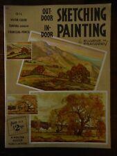 Vintage Walter Foster Art Book Instructions Outdoor Indoor Sketching Painting