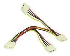 """MOLEX 5.25"""" 4 PIN POWER SPLITTER - 1 TO 3 WAY CABLE TO CREATE 2 MORE CONNECTORS"""