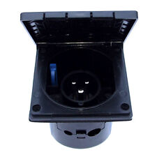 MAINS INLET 16A 230V FLUSH BLACK CARAVAN MOTORHOME HORSEBOX for 16 AMP HOOK-UP