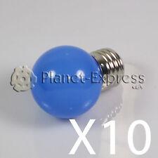 10x Ampoule 1W LED E27 Bleu 220V 90 lumens Décoration,environnement jardin SMD