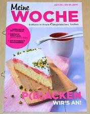 Weight Watchers Meine Woche 27.4 - 3.5 ProPoints Plan 2014 Wochenbroschüre *NEU*