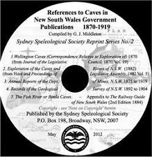 References to Caves in NSW Government Publications 1870 - 1919 (On CD)