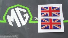 MGF MG F MG TF MGTF Union Jack x2 Stickers Red Chrome & Blue mgmanialtd.com