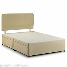 NEW - DELUXE FAUX LEATHER DIVAN BASE IN 2FT6/3FT6/4FT6/5FT/6FT + COLOUR OPTIONS