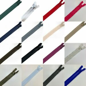 Chunky Plastic Open Ended Zips 25cm to 91cm - 16 Colours & 14 Sizes - Free Post