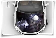 Wolf Mond Nacht Hund Motorhaube Auto-Aufkleber Steinschlag-Schutz-Folie Airbrush