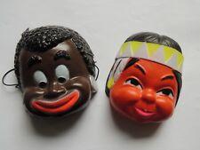 Deux masques anciens pour poupée type bella Indien Chocoreve déguisement.