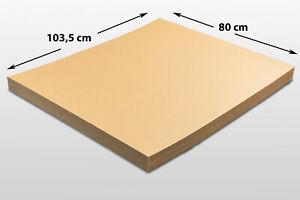 15x Kartonplatte 800 x 1035 mm Palettenzwischenlage Wellpappe Zuschnitt Palette