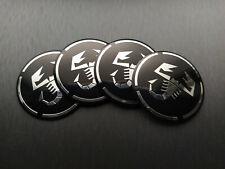 4x 56mm Abarth Sticker Stickers Decal Badge For Center Caps Hub Cap Wheel Rim