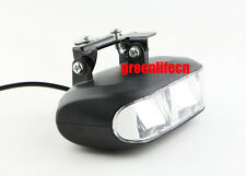 E-BIKE 24V 36V 48V LED SPOT LIGHT HEAD LAMP WITH HORN FRONT FORK LIGHT SCOOTER