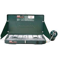 2-Burner Propane Stove Coleman Matchlight 10000 BTU Adjustable Camping Cooking