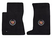 New! Black Floor Mats 2011-2014 Cadillac Cts Coupe Silver Crest logo Awd Pair (Fits: Cadillac Cts)